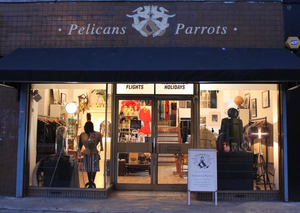 pelicans sign shopfront